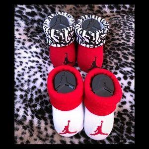 NEW Nike Air Jordan Infant Socks Booties 0-6 mnths